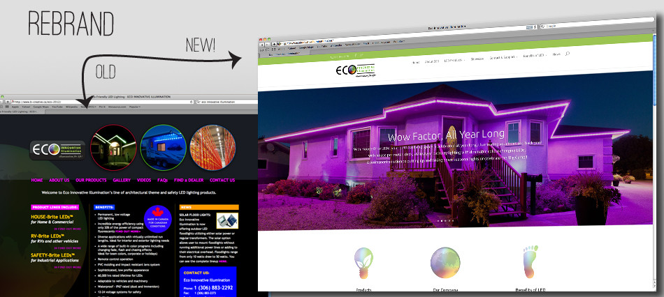 ECO Innovative Illumination Website Redesign